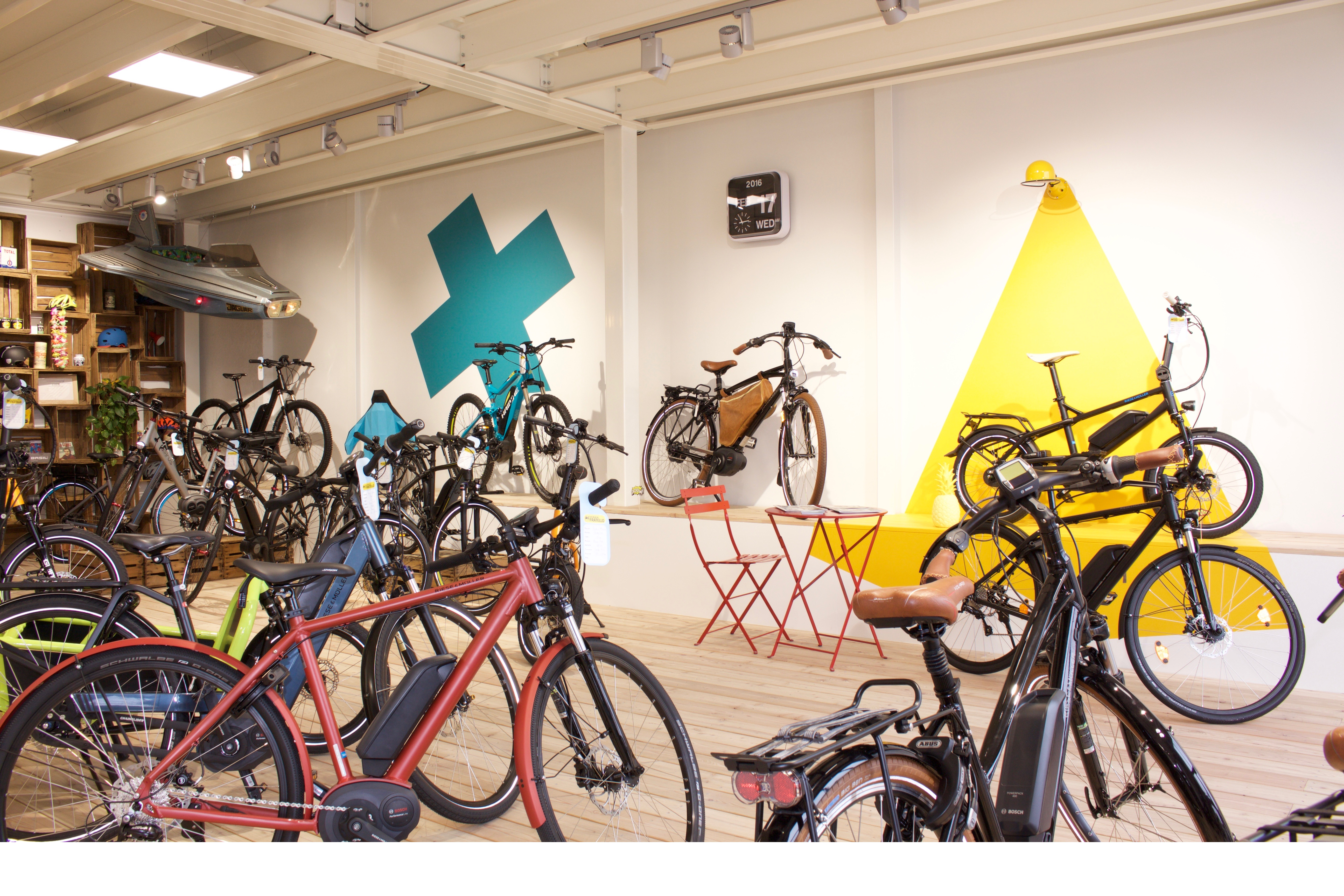 le magasin les vélos de fratello ici le Cruise de Riese & muller