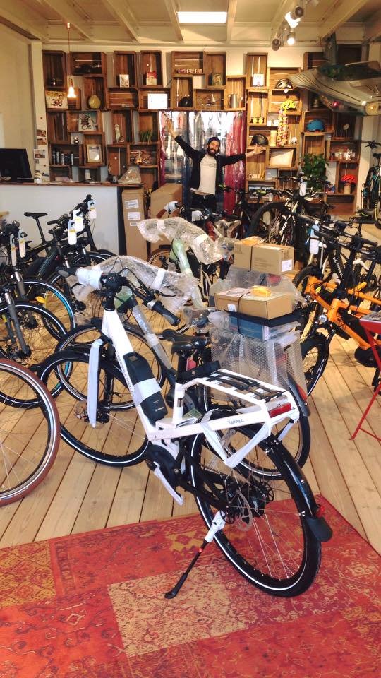 nouveaux vélo électrique au magasin à Lyon